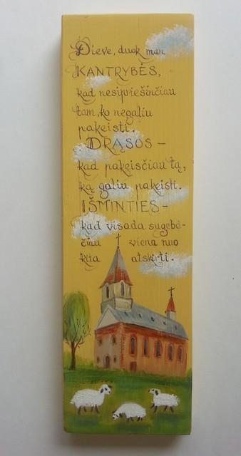"""Medžio tapyba """"Išminčiaus malda"""""""