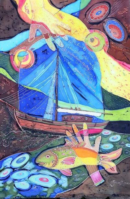 """Šilko batika """"Aušros pažadinimas"""""""